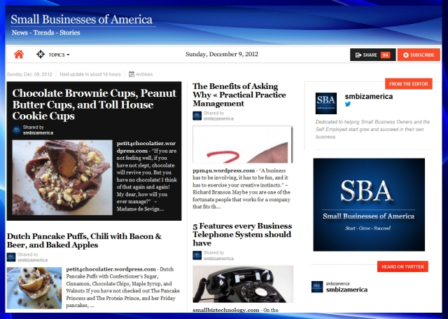 Small Businesses of America 120912