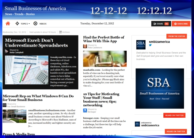 Small Businesses of America 121212