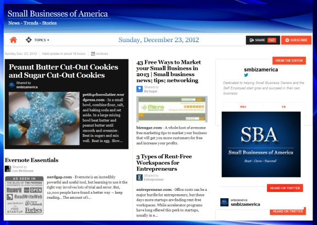 Small Businesses of America 122312