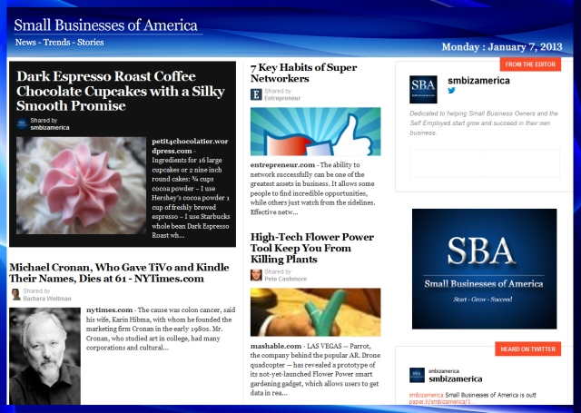 Small Businesses of America 010713