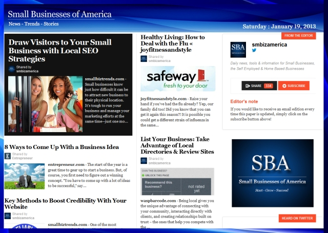 Small Businesses of America 011913