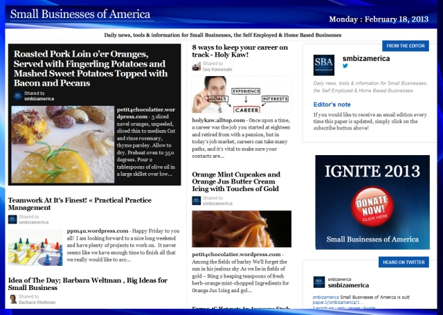 SBA Small Businesses of America 021813