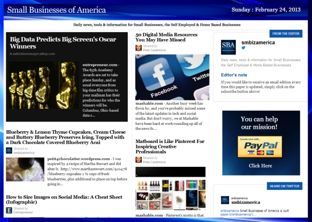 SBA Small Businesses of America 022412