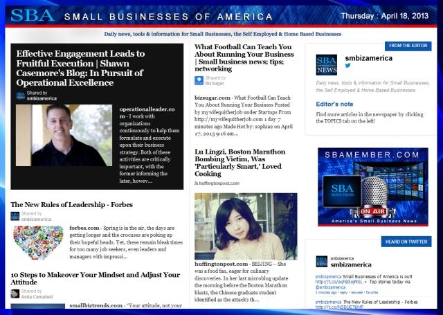 SBA Small Businesses of America 041813 #sbamember #smbiz #smbizamerica #sba