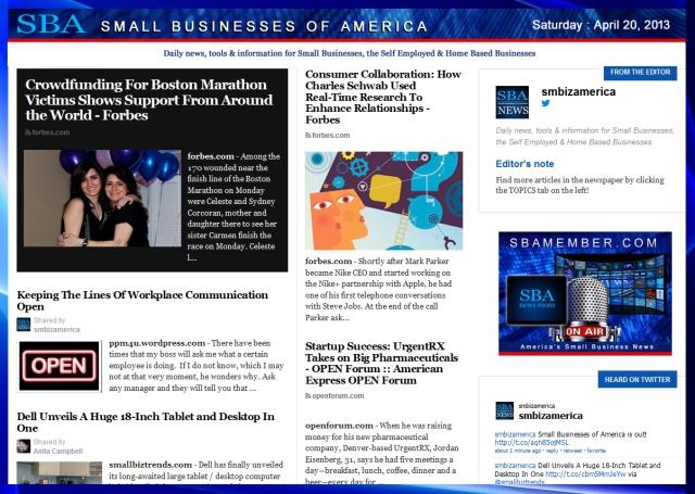 SBA Small Businesses of America 042013 #sbamember #businessresources #sba #smbizamerica #smbiz