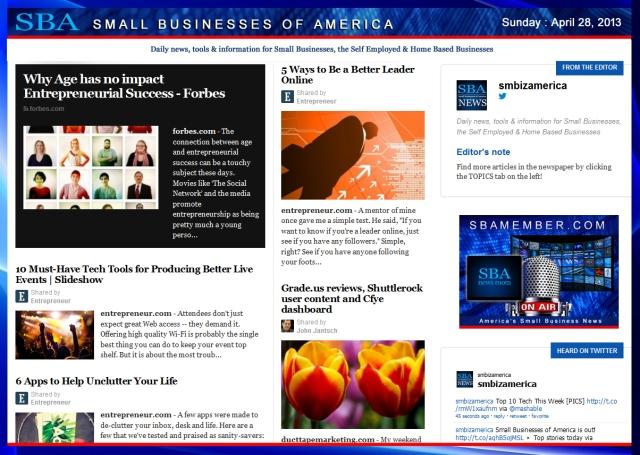 SBA Small Businesses of America 042813 #smbiz #smbizamerica #sbamember #sba SBA