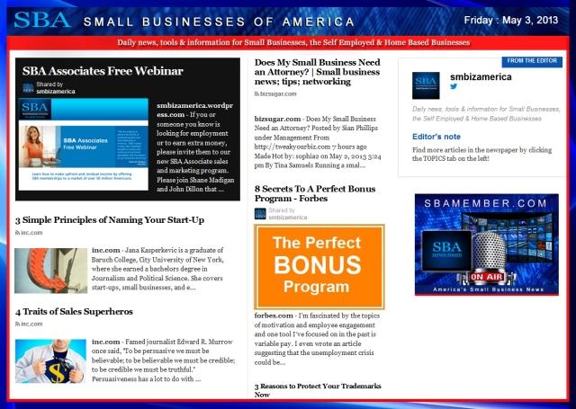 SBA Small Businesses of America 050313 #SBA #smbiz #smallbiz #smbizamerica, sbamember
