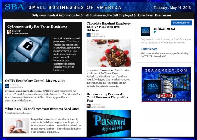 SBA Small Businesses of America 051413 #smallbiz #smbiz #smalllbusiness #news #sba #smbizamerica