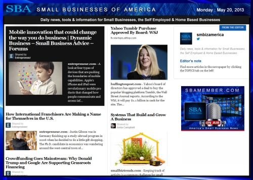 SBA Small Businesses of America 052013 #smallbiz #smbiz #smalllbusiness #news #sba #smbizamerica #smbiznews