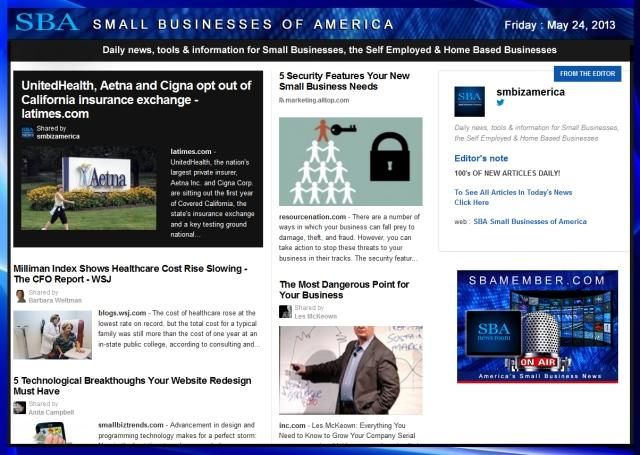 SBA Small Businesses of America 052413 #sba