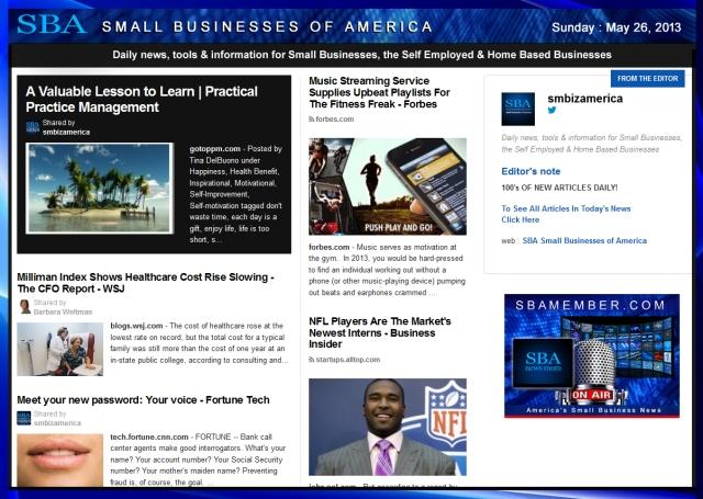 SBA Small Businesses of America 052613  smallbiz smbiz smbizamerica