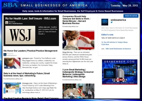 SBA Small Businesses of America 052813 News