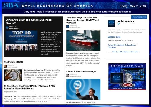 SBA Small Businesses of America 053113 News #smbiz #smallbiz #entrepreneur