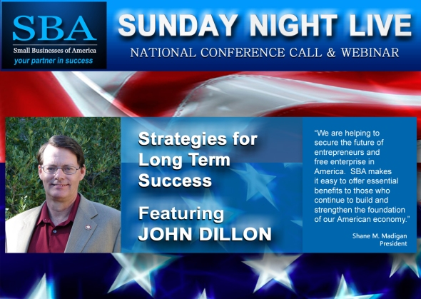 SBA Sunday Night Live Featuring John Dillon