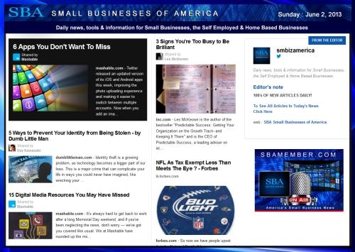 SBA Small Businesses of America 060213 News #smbiz #smallbiz #entrepreneur