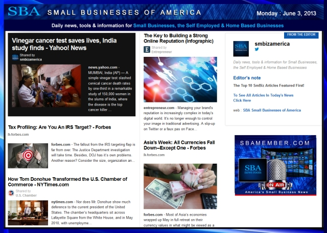SBA Small Businesses of America 060313 #news #SBA #smbiz #smallbiz #entrepreneur