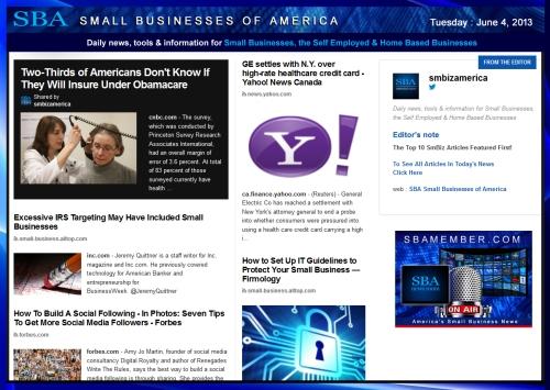 SBA Small Businesses of America 060413 #news #SBA #smbiz #smallbiz #entrepreneur #top10