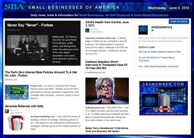 SBA Small Businesses of America 060513 #news #SBA #smbiz #smallbiz #entrepreneur Your Partner In Success