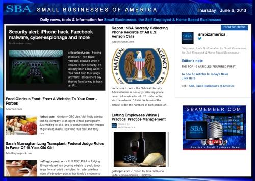 SBA Small Businesses of America 060613 #news #SBA #smbiz #smallbiz #entrepreneur Your Partner In Success