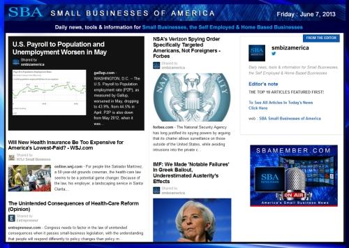 SBA Small Businesses of America 060713 #news #SBA #smbiz #smallbiz #entrepreneur