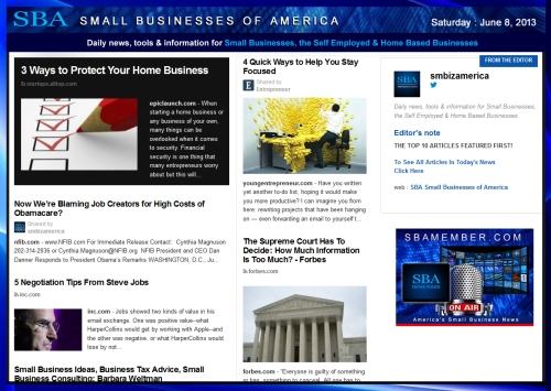 SBA Small Businesses of America 060813 #news