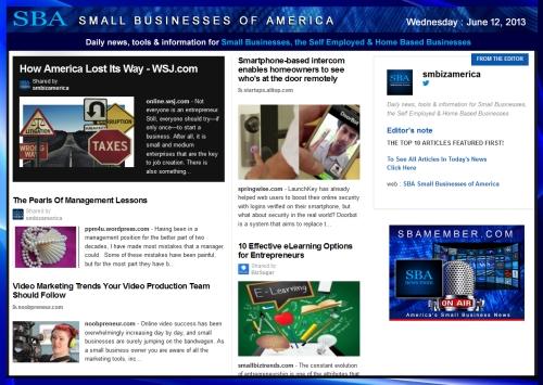 SBA Small Businesses of America 061213 smbiz-smallbiz-sba-smbizamerica-sba