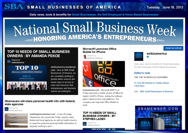 SBA Small Businesses of America 061813 smbiz-smallbiz-smbizamerica-#nsbw2013