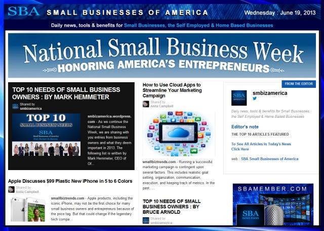 SBA Small Businesses of America 061913 smbiz-smallbiz-smbizamerica-#nsbw2013