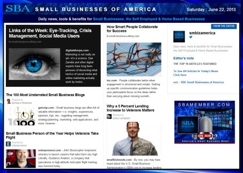 SBA Small Businesses of America 062213