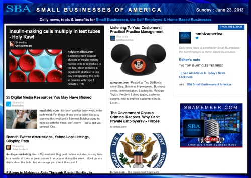SBA Small Businesses of America 062313
