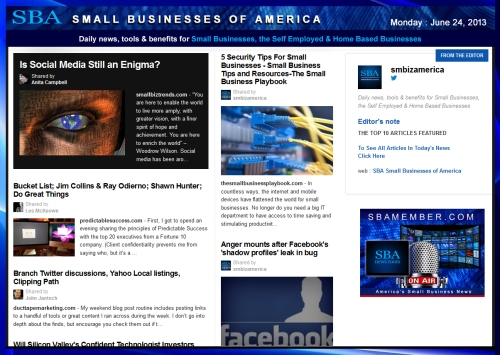 SBA Small Businesses of America 062413