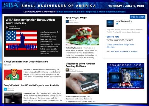 SBA Small Businesses of America 070213