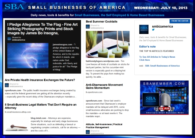 SBA Small Businesses of America 071013 SMB SMALLBIZ
