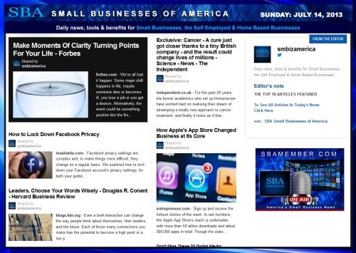 SBA Small Businesses of America 071413