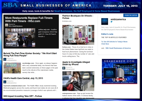 SBA Small Businesses of America 071613 #smb #smallbiz