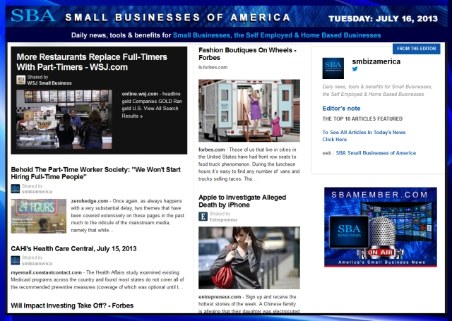 SBA Small Businesses of America 071613 #smb #smallbiz