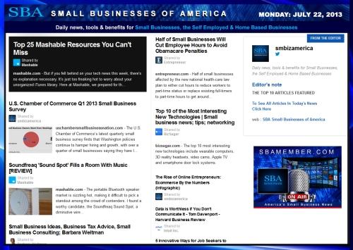 SBA Small Businesses of America 072213