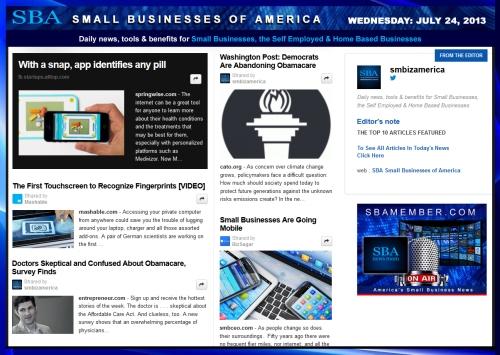 SBA Small Businesses of America 072413 smbiz