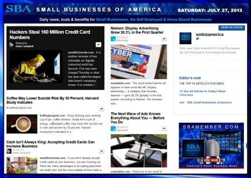 SBA Small Businesses of America 072713 smbiznews