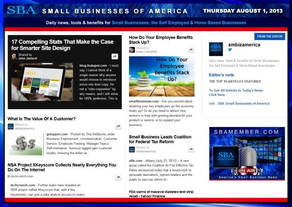 SBA Small Businesses of America 080113 SMB