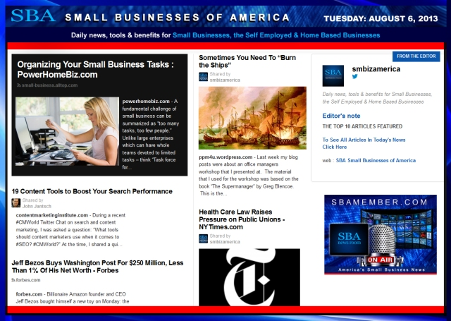 SBA Small Businesses of America SMB SMBIZ SMALLBIZ