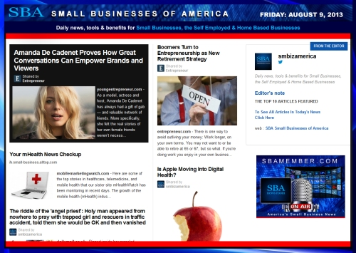 SBA Small Businesses of America 080913 #smbiz