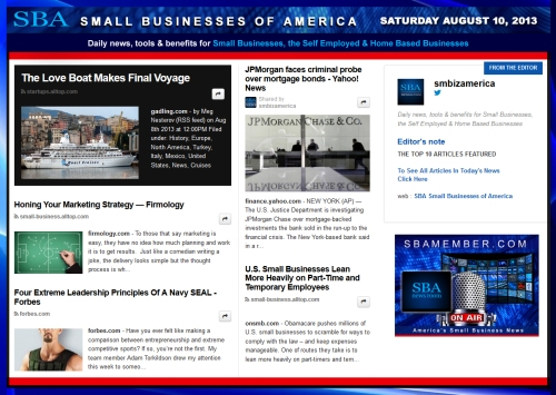 SBA Small Businesses of America 081013 SMB #smbiz