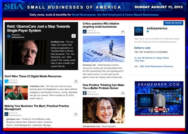 SBA Small Businesses of America 081113 #smbiz