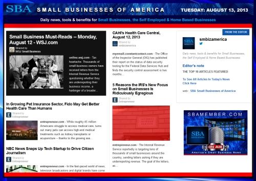 SBA Small Businesses of America 081313 #smbiz #smallbix #smb #smallbizamerica