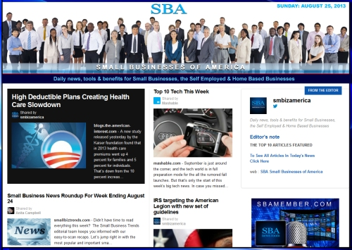 SBA Small Businesses of America News : August 25 2013