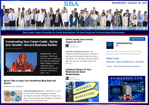 SBA Small Businesses of America 082813 smbiz news