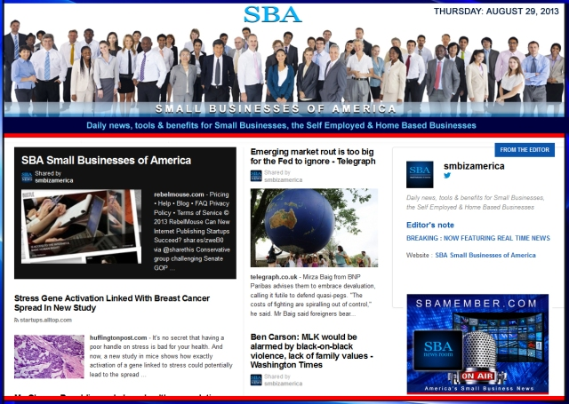 SBA Small Businesses of America 082913 smbiz news