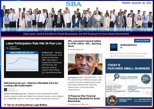 SBA Small Business News : smb, smbiz, smallbiz