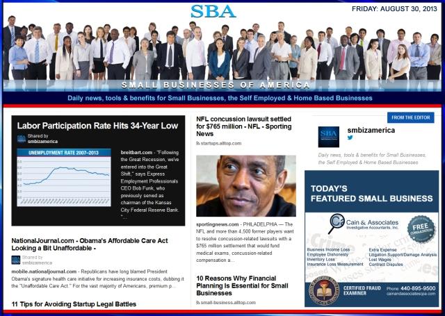SBA Small Business News : smb, smbiz, smallbiz